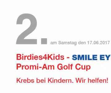 2. PromiAm Golf Cup zugunsten Birdies4Kids